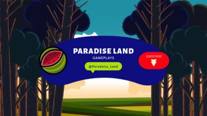 YouTube Banner Creator with a Paradise Land Background 2543a