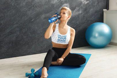 Sports Bra Mockup of a Woman Doing Pilates 34413-r-el2