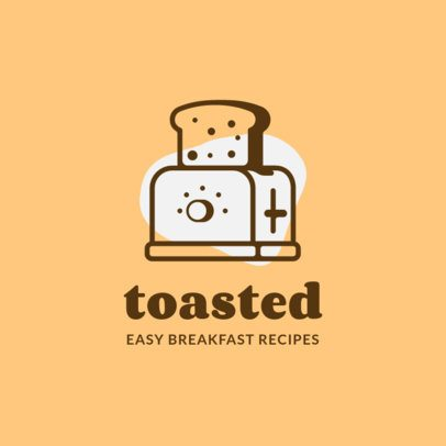 Breakfast Restaurant Logo Maker Featuring a Toast Graphic 1488c-el1