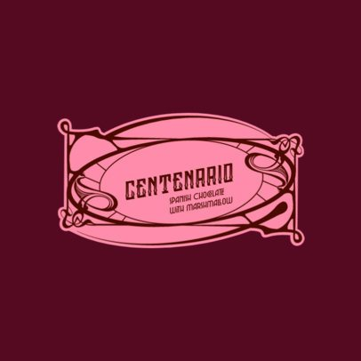 Logo Creator for a Chocolate Company Featuring an Ornamental Style 3280g