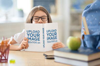 Mockup of a Girl Reading a Kids Book 34670-r-el2
