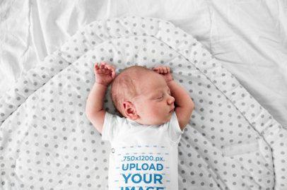 Onesie Mockup Featuring a Newborn Sleeping 34628-r-el2