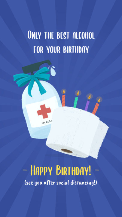 Instagram Story Maker Featuring Sarcastic Birthday Graphics 2548