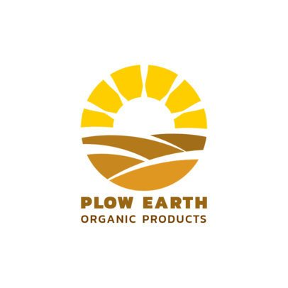Logo Maker for an Organic Products Brand Featuring a Round Sunrise Icon 1595c-el1
