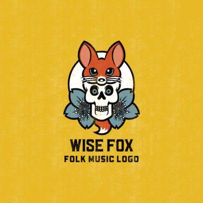 Logo Template Featuring Funny Skull Graphics 1629-el1
