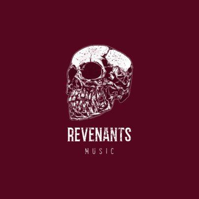 Musician Logo Maker with an Intense Skull Illustration 1632b-el1