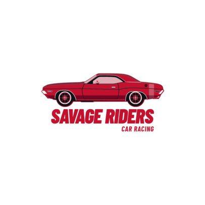 Car Racing Logo Maker with a Classic Automobile 1646c-el1