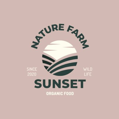 Logo Maker Featuring a Sunset Graphic for an Organic Food Brand 1602c-el1