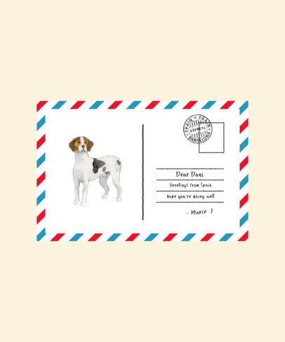 T-Shirt Design Maker Featuring Postcard Illustrations of Dogs 1537-el1