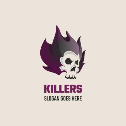 Online Logo Creator Featuring a Killer Skull 1631b-el1