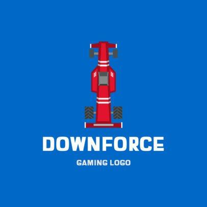 Gaming Logo Maker Featuring an Open-Wheeled Car 1648a-el1
