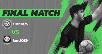 Twitch Banner Maker for a Virtual Match Scoreboard 2553a