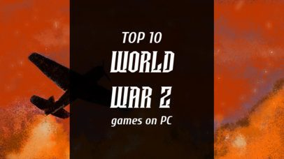 YouTube Thumbnail Creator for a PC Games Ranking 2556a