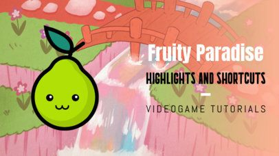 Gaming YouTube Thumbnail Maker Featuring a Smiling Pear Graphic 2557d