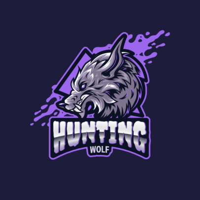 Gaming Logo Maker for a Gaming Team Featuring a Raging Wolf 3291c