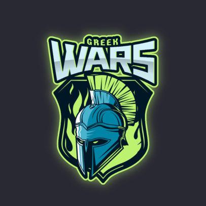 Gaming Logo Generator Featuring a Great Greek Warrior 3297i