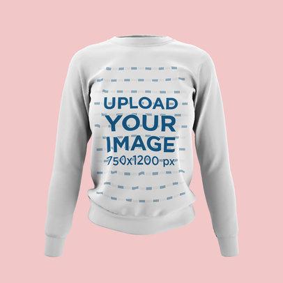 Ghosted Mockup of a Women's Crewneck Sweatshirt Against a Plain Backdrop 4431-el1