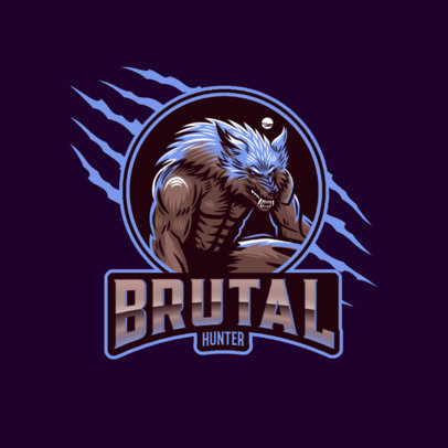 Gaming Logo Creator with a Brutal Werewolf 3291l