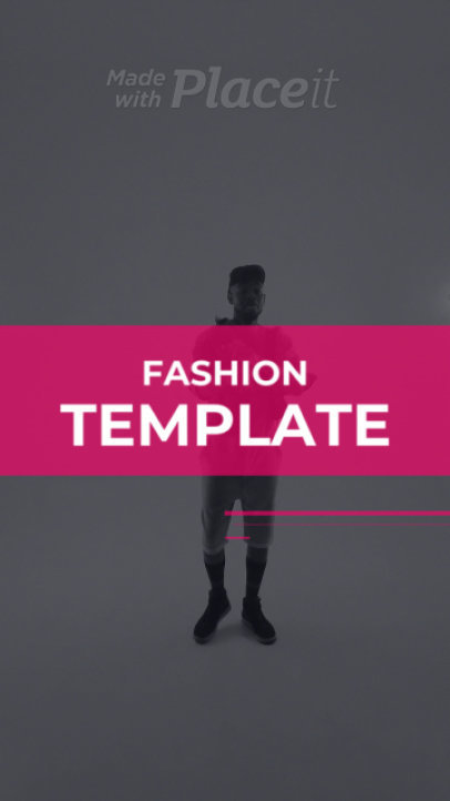 Instagram Story Video Maker for a Clothing Brand Featuring a Video of a Trendy Man 396-el1
