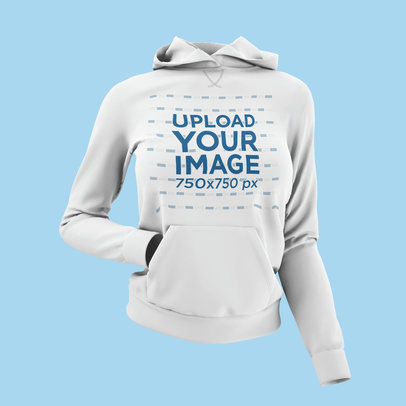 Mockup of a Ghosted Women's Pullover Hoodie 4436-el1