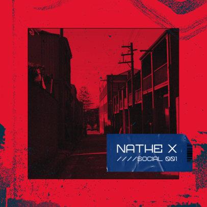 Hip-Hop Album Cover Maker with a Monochromatic Design 2585k