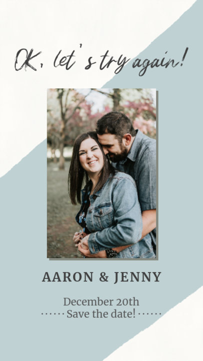 Instagram Story Generator Featuring a Wedding Picture with a Romantic Couple 2582d