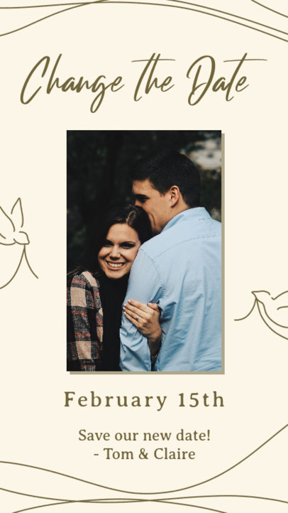 Wedding-Themed Instagram Story Maker for a Change the Date Announcement 2582f