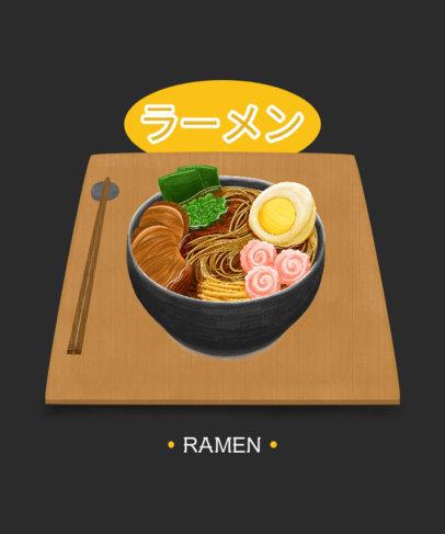 Illustrated T-Shirt Design Creator with a Delicious-Looking Ramen 1681b-el1
