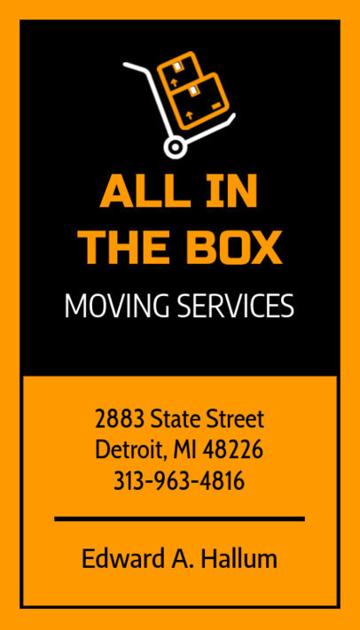 Removalist Business Card Template 554e
