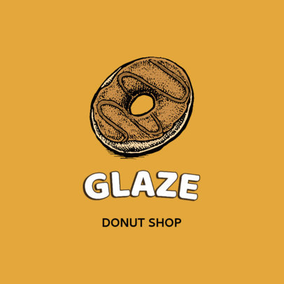 Logo Maker for a Donut Store Featuring a Hand-Drawn Icon 1747c-el1