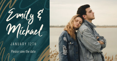 Facebook Post Design Template for a Save-the-Date Post 2584j