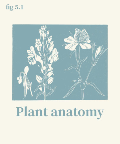 T-Shirt Design Creator with a Diagram of Plant Anatomy 1657d-el1