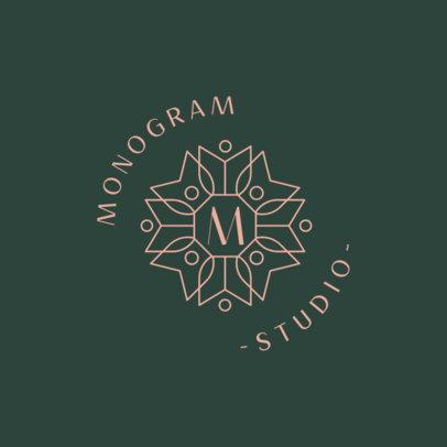 Elegant Monogram Logo Creator for a Design Studio 3316j