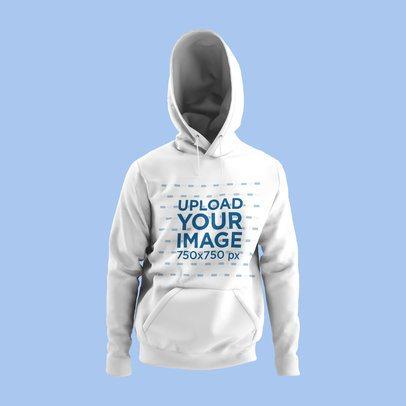Hoodie Mockup of a Ghosted Garment 4442-el1