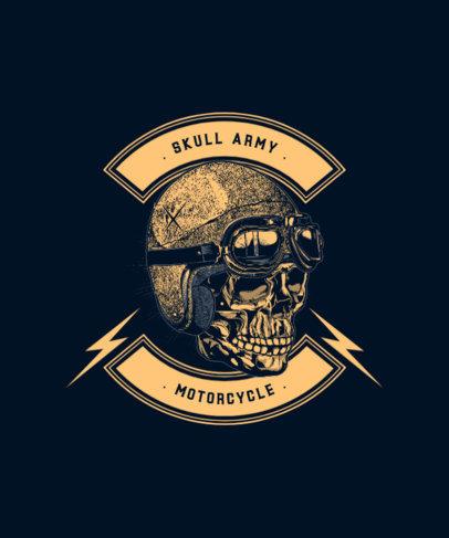 Bikers Club T-Shirt Design Creator Featuring a Skull with a Helmet 1713a-el1