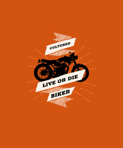 Fun T-Shirt Design Template with a Motorcycle Graphic 1718a-el1