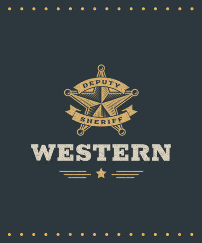 T-Shirt Design Maker Featuring a Wild West Star Icon 1707c-el1