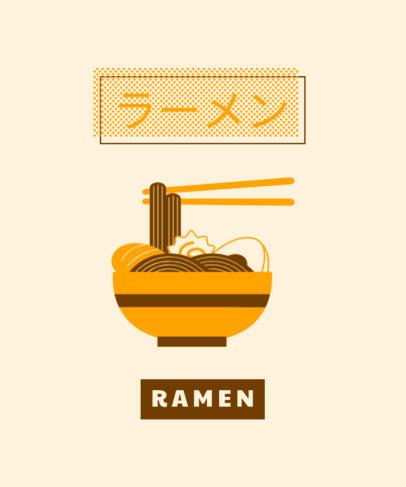 T-Shirt Design Maker Featuring a Ramen Graphic 1683c-el1