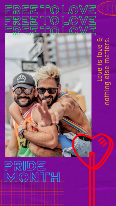 Instagram Story Design Maker for Pride Month Featuring a Photo 2533h-2594
