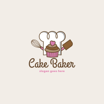 Bakery Logo Maker Featuring Cupcake Icons 1860-el1
