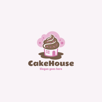 Logo Template for a Cake House Featuring a Muffin Graphic 1860e-el1