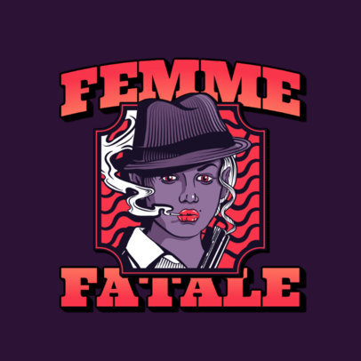 Logo Generator with a Graphic of a Femme Fatale 3323b