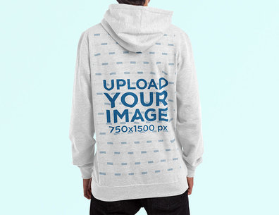 Mockup of the Back Side of a Man Wearing a Hoodie in a Studio 4459-el1