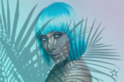 Spotify Banner Creator with a Woman by Palm Tree Shadows 2597e