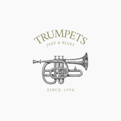 Vintage Logo Maker Featuring Classical Music Instruments 1772-el1