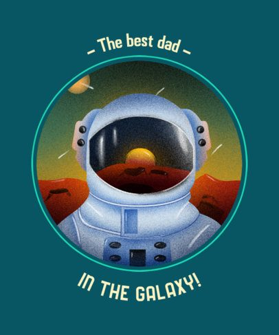 Father's Day T-Shirt Design Generator Featuring an Astronaut Illustration 2255g-2614