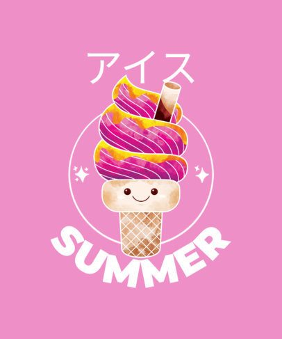 Kawaii T-Shirt Maker with Fun Ice Cream Characters 1875-el1