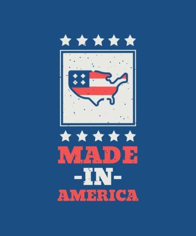 T-Shirt Design Maker for a 4th of July Celebration 1849-el1