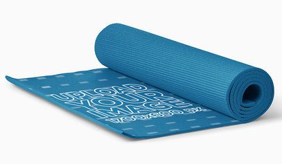 Mockup of a Rolled Yoga Mat Placed on a Flat Surface 37047-r-el2