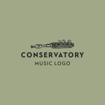Logo Generator for a Music Conservatory Featuring a Wind Instrument 1771b-el1